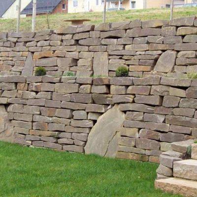 Naturstein Mauern Wege Stufen Gartendesign Killen