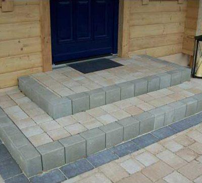 Naturstein Stufen Eingang Gartendesign Killen