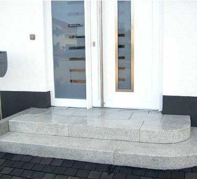 Naturstein Glanz Stufen Gartendesign Killen