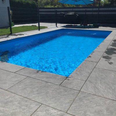 Pool Fertig Aussen Rechteck Fliesen Bergisches Steindesign Killen Overath Koeln Umgebung